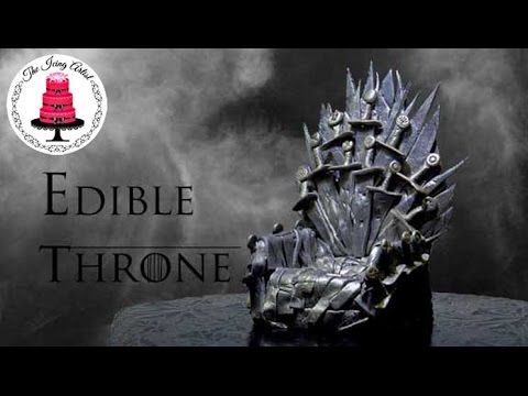 Game Of Thrones Edible Iron Throne Cake Topper - How To With The Icing Artist