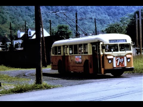 Johnstown, PA Trolleybus Scenes - 1964