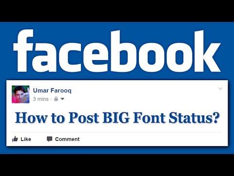 How to Post BIG Font Facebook Status?! [HD]