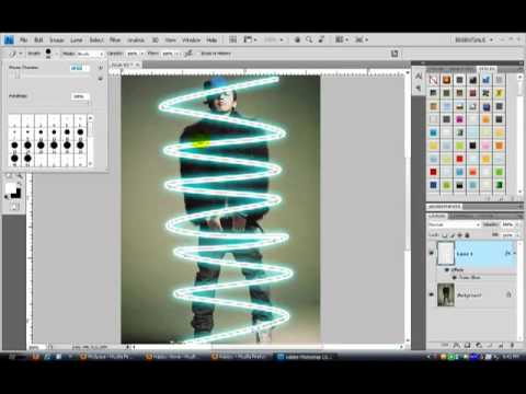 Adobe Photoshop CS4 Tutorial   How to make Glowing Lines
