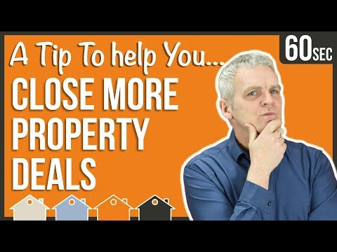 How To Close More Investment Property Deals | 60 Second Property Tips For Buy To Let UK Investors