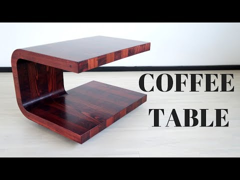 Modern coffee table (larch glulam leftovers)