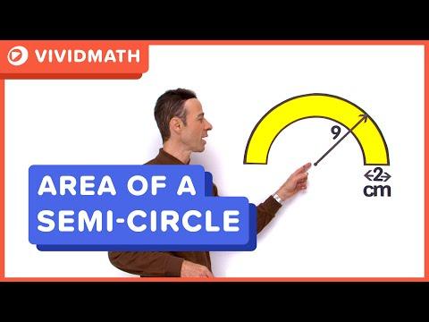 Area of a Semi Circle - VividMaths.com
