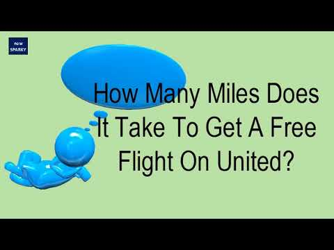 How Many Miles Does It Take To Get A Free Flight On United?