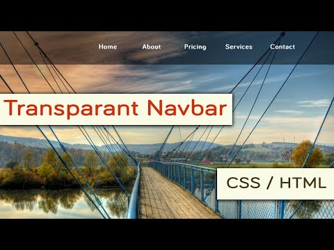 Simple and Professional Transparent Navigation Bar in HTM and CSS