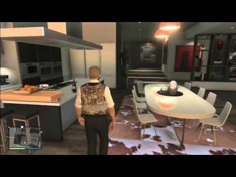 GTA 5 Online tour of High life DLC Apartment - Del Perro Heights Apt