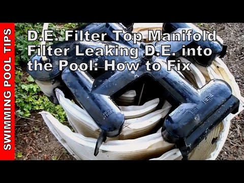 Cleaning a D.E. filter Top Manifold (Jandy, FNS, Hayward, Titan) D.E. leaking into pool