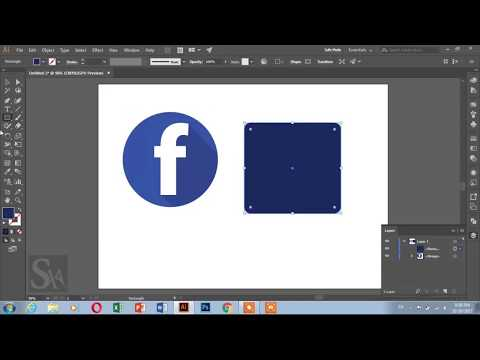 How to make facebook icon easily using Adobe illustrator