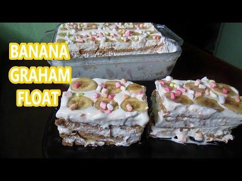 Banana Graham Float  | How to make Banana Graham Float | Banana Float Icebox cake