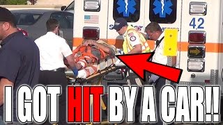 I GOT HIT BY A CAR *LIVE FOOTAGE CAUGHT ON CAMERA*