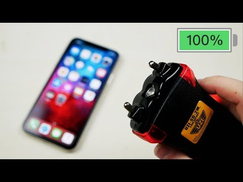 Can a Quick Taser Blast Charge an iPhone X?