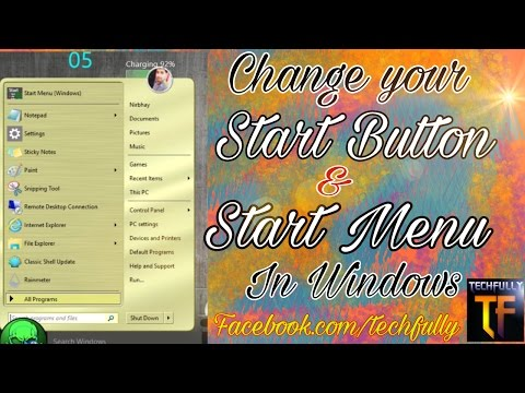 How to change Start Button And Start Menu In Windows 7/8/8.1/10