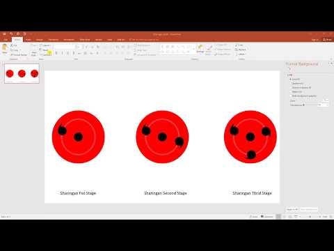 Create Sharingans using PowerPoint