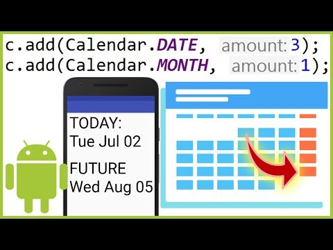 How to Get a Future Date in Java - Android Studio Tutorial
