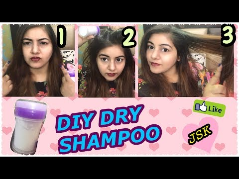 DIY Natural Dry Shampoo - DEMO/How to use Dry Shampoo to Get Silky, Bouncy hair in 2 minutes