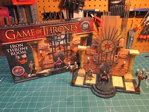 Game of Thrones Iron Throne Room McFarlane Toys Construction Set Review and Build