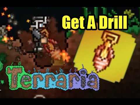 Terraria How To Get A Drill | Palladium Drill vs Molten Pickaxe