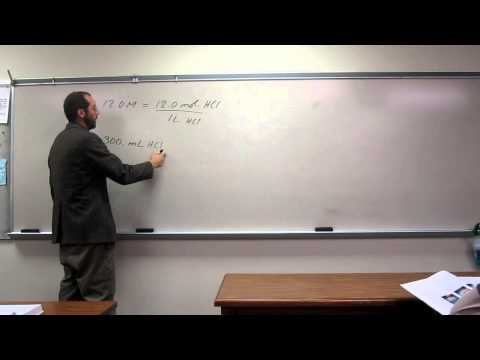 Calculate Moles From Molarity and Volume 002
