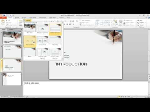 How to delete slides and change layouts in PowerPoint