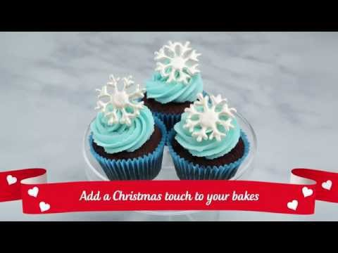 How to make WHITE CHOCOLATE SNOWFLAKES decoration | Christmas Recipe
