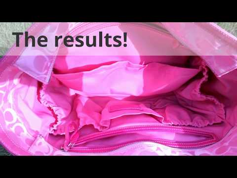 How to clean a very dirty handbag - Pink Coach