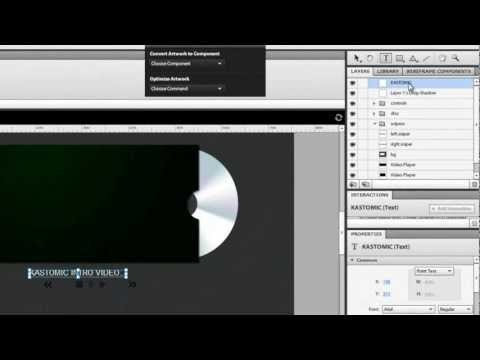 how to make a Custom Video Player for your Website in Flash Catalyst without writing code