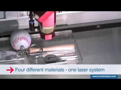 Laser engraving & marking a four material key chain with one laser system   Trotec Speedy 300 flexx