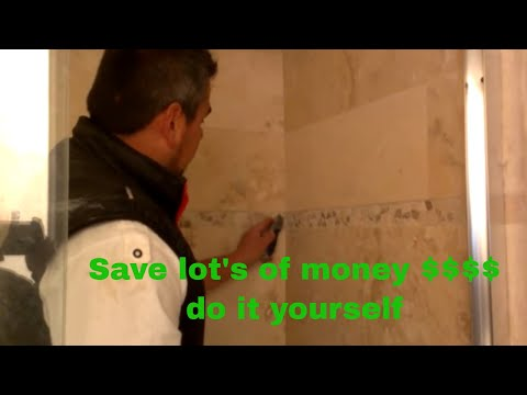 how to repair grout inside the shower