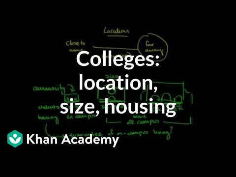 Comparing colleges based on location, size, and housing