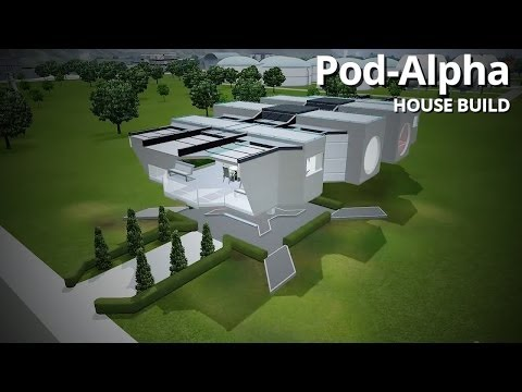 The Sims 3 House Building - Pod-Alpha (Futuristic Home)