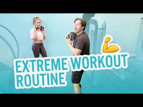 Baby Ariel Tortures Her Dad (Workout Routine)!