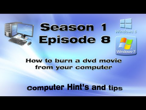 How to burn a dvd movie from your computer