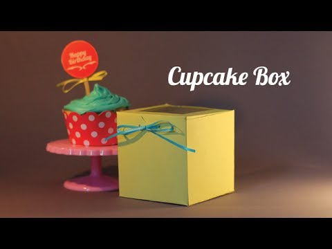 Cupcake boxes - How to DIY