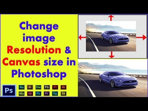 Change image Resolution & Canvas Size in Photoshop