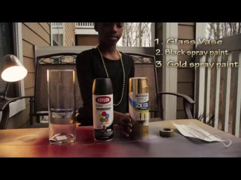 DIY Spray paint Vase