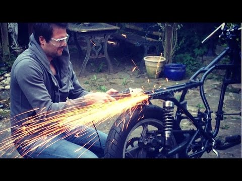 Cafe Racer Build Part 3, Frame Cutting, 78 Suzuki GS550