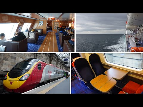 Belfast to London by ferry & train, via Cairnryan