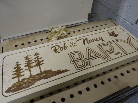 Big Ash Sign: Woodworking & Laser Engraving