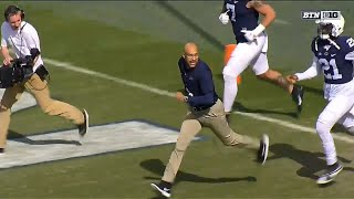 James Franklin (Keegan-Michael Key) Leads PSU Out of Tunnel | Big Ten Football