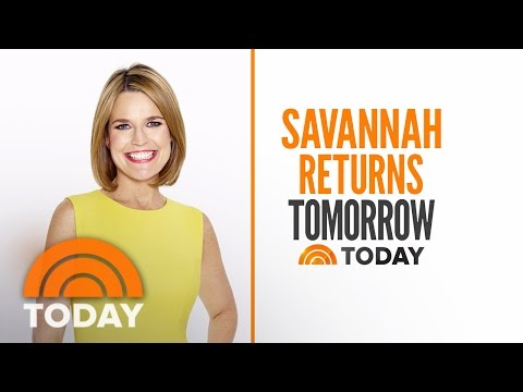 Savannah Guthrie Returning To TODAY Tomorrow Morning Ahead Of A Busy Week   TODAY