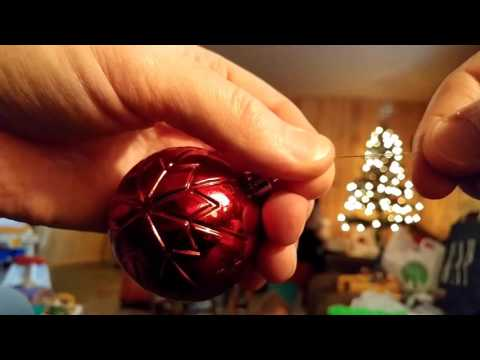 Easiest way to tie hanging twine on Christmas ornaments