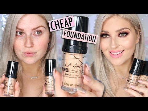Affordable First Impression Review! 💕 LA GIRL PRO COVERAGE FOUNDATION