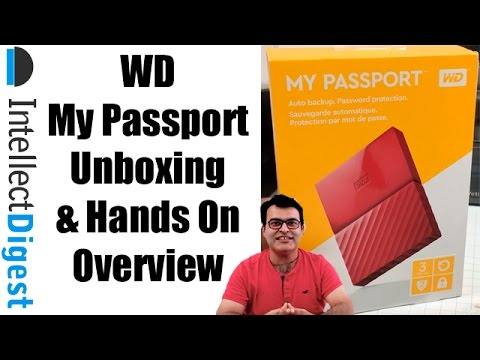 WD My Passport Portable External Hard Drive Unboxing And Hands With Speed Test | Intellect Digest
