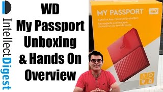 WD My Passport Portable External Hard Drive Unboxing And Hands With Speed Test   Intellect Digest
