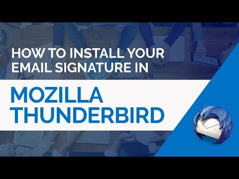 How to install a HTML email signature in Mozilla Thunderbird