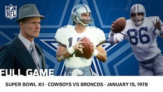 Download Cowboys Dominate the Broncos in Super Bowl XII | NFL Full Game Video