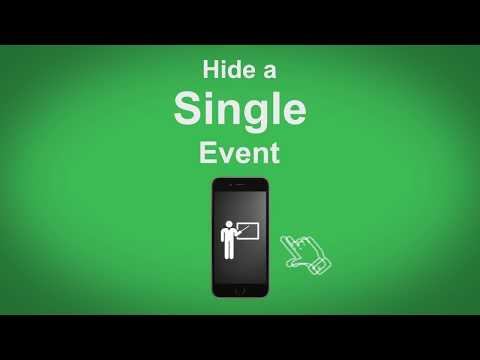 Google Maps   Hide A Single Event