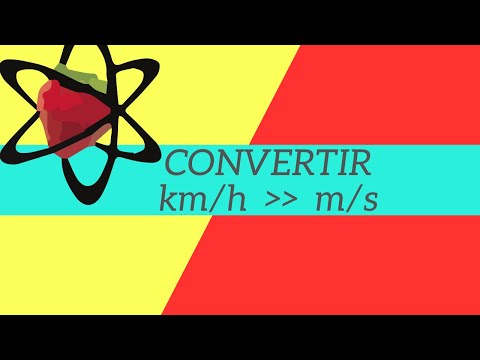 Conversion m/s -km/h