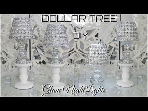 DIY DOLLAR TREE   GLAM NIGHTLIGHTS DECOR   DIY HOME DECOR IDEAS 2018   PETALISBLESS