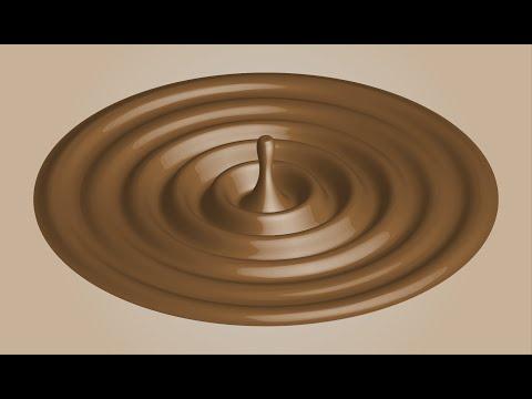 create chocolate ripple effect  illustrator